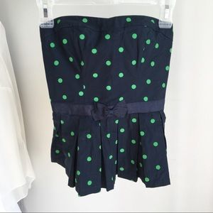 Abercrombie and Fitch Navy Polka Dot Tube Top